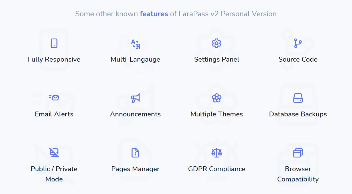 LaraPass v2 - Personal Version - 4